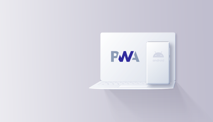 PWA on phone and tablet